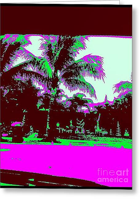 Enhanced Greeting Cards - Xmas In Lauderdale Greeting Card by Caroline Gilmore