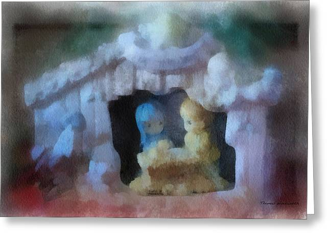 Saint Joseph Digital Greeting Cards - Xmas Nativity 01 Photo Art Greeting Card by Thomas Woolworth