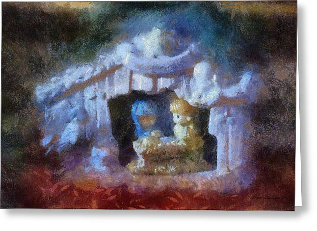 Saint Joseph Digital Greeting Cards - Xmas Nativity 02 Photo Art Greeting Card by Thomas Woolworth