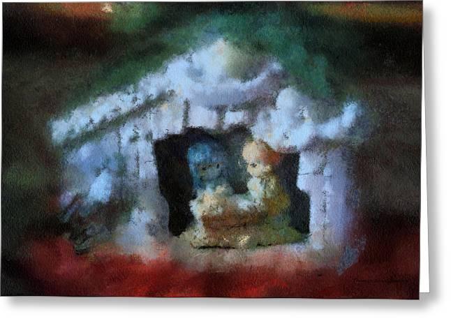 Saint Joseph Digital Greeting Cards - Xmas Nativity 03 Photo Art Greeting Card by Thomas Woolworth