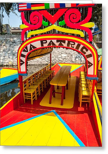 Mexico City Greeting Cards - Xochimilco Colors Greeting Card by Jess Kraft
