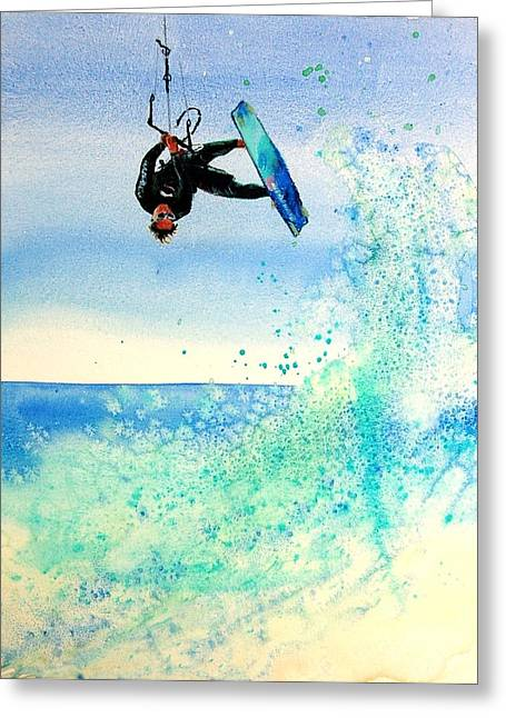 Xtreme Big Air Greeting Card by Lynee Sapere