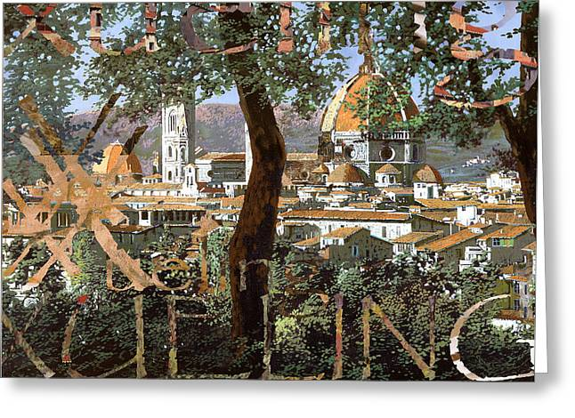 Florence Digital Art Greeting Cards - Xueling in Florence Greeting Card by Guido And Danka