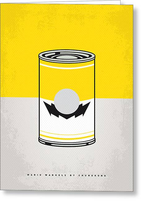 Levels Greeting Cards - Y Mario Warhols Minimal Can Poster-wario Greeting Card by Chungkong Art