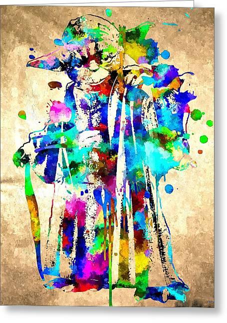 Y Oda Grunge Greeting Card by Daniel Janda