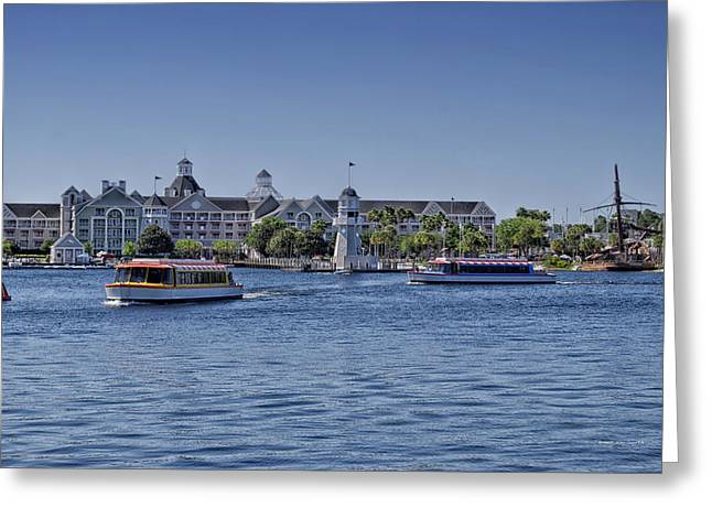 World Showcase Lagoon Greeting Cards - Yacht and Beach Club Walt Disney World Greeting Card by Thomas Woolworth
