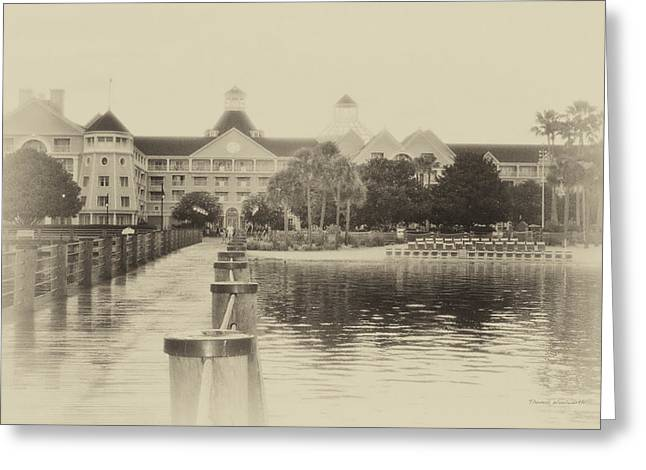 Main Street Greeting Cards - Yacht And Beach Club WDW in Heirloom Greeting Card by Thomas Woolworth