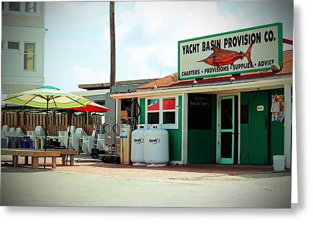 Local Food Greeting Cards - Yacht Basin Provision Co. Greeting Card by Cynthia Guinn