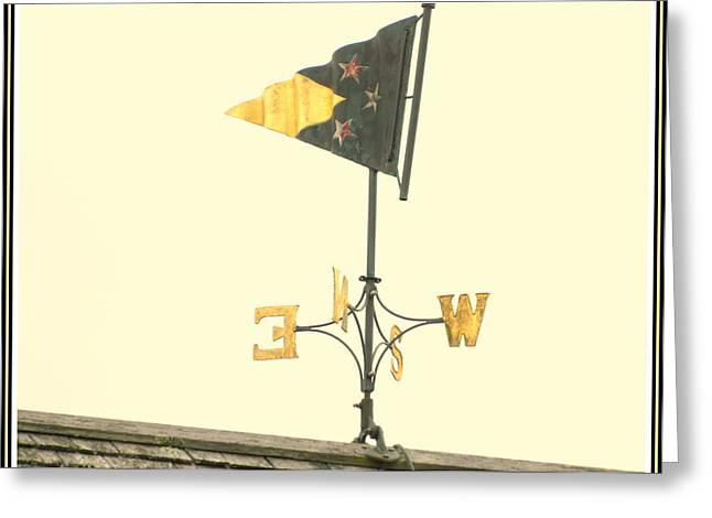 Weathervane Greeting Cards - Yacht Club Weathervane Greeting Card by Kathy Barney