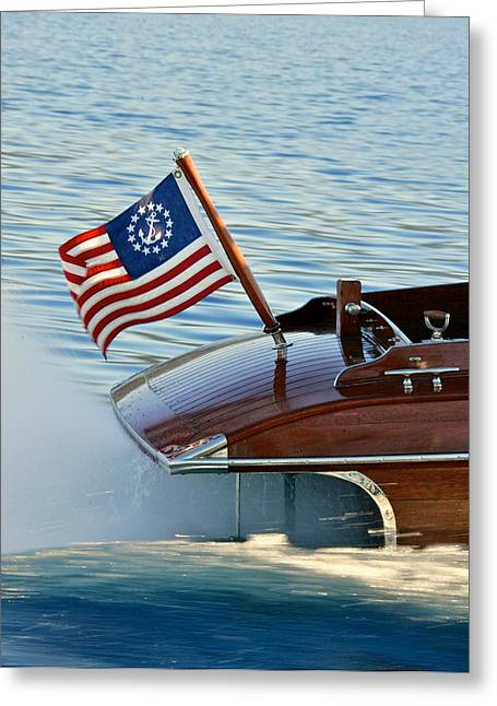 Ensign Greeting Cards - Yacht Ensign Greeting Card by Steven Lapkin