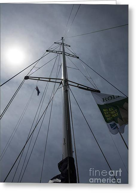 Psp Greeting Cards - Yacht mast with sun Greeting Card by Sheila Smart