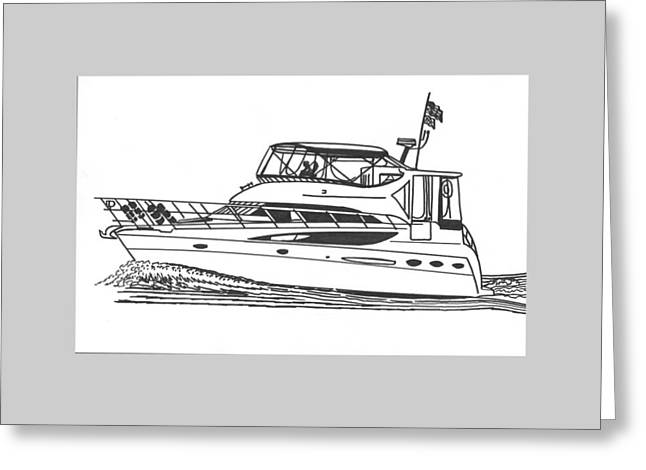 Yachting good times Greeting Card by Jack Pumphrey