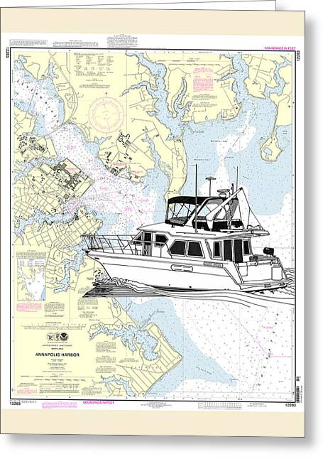 Yachting Mixed Media Greeting Cards - Yachting in Annapolis Harbor Greeting Card by Jack Pumphrey