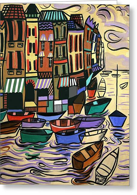 Greeting Cards For Sale Greeting Cards - Yachts For Sale Greeting Card by Anthony Falbo