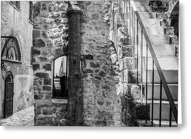 Yafo Greeting Cards - Yafo alley Greeting Card by Juan Carlos Lopez