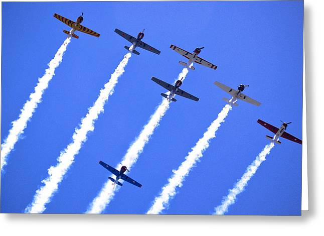 Mount Maunganui Greeting Cards - Yak 52 Formation Greeting Card by Phil