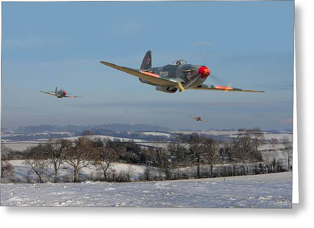 Yak9 - The Russians Are Coming Greeting Card by Pat Speirs