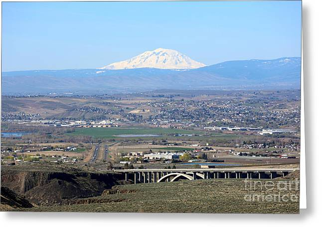 Outlook Greeting Cards - Yakima Valley Outlook with Mount Adams Greeting Card by Carol Groenen