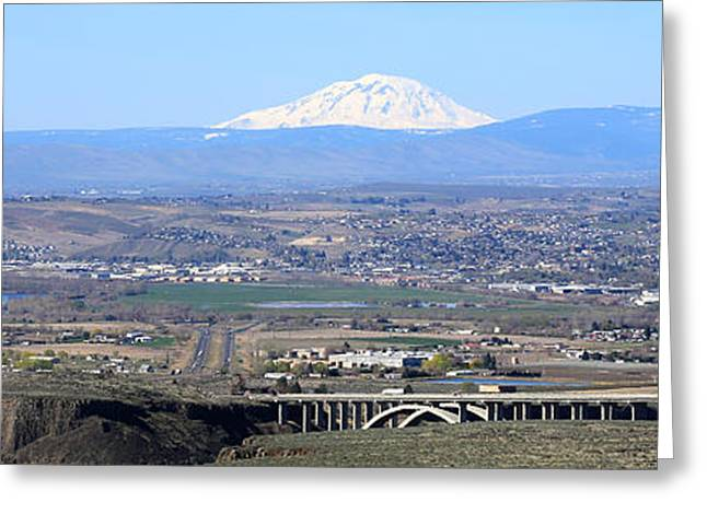 Outlook Greeting Cards - Yakima Valley Panorama Greeting Card by Carol Groenen