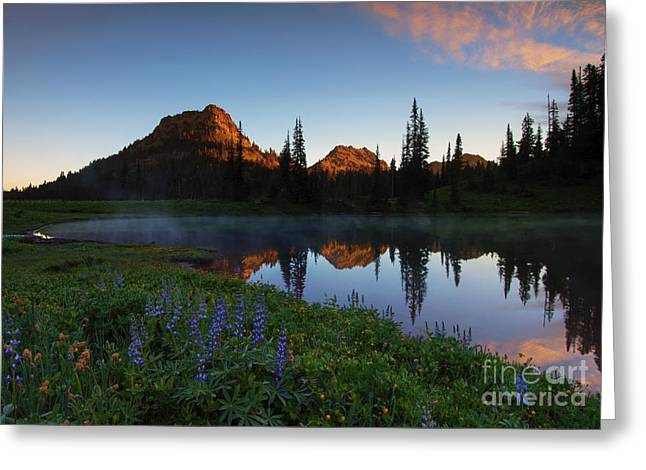 Yakima Peak Sunrise Greeting Card by Mike  Dawson