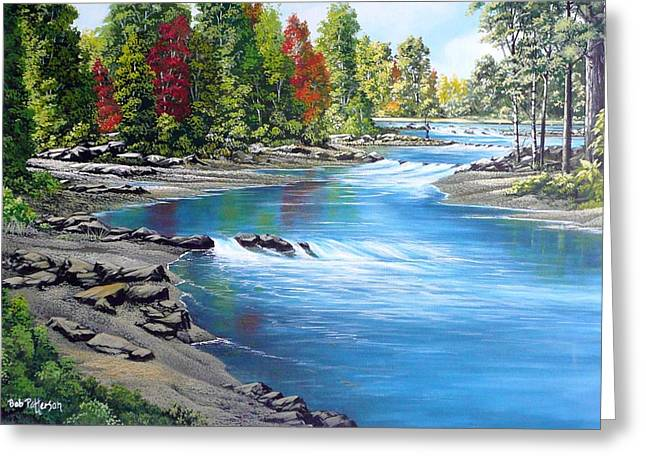 Yakima Valley Paintings Greeting Cards - Yakima River Greeting Card by Bob Patterson