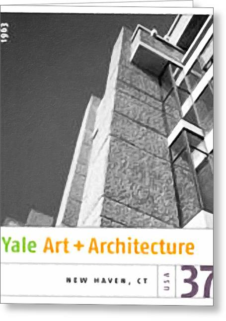 Brick Schools Paintings Greeting Cards - Yale Art and Architecture Building Greeting Card by Lanjee Chee