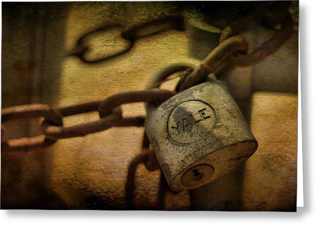 Layer Greeting Cards - Yale lock Greeting Card by A R Williams