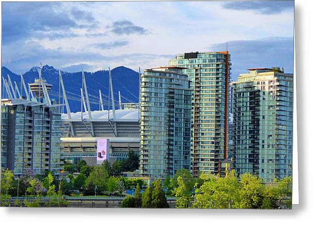 Yaletown Greeting Cards - Yaletown Sunset Greeting Card by Laurie Tsemak