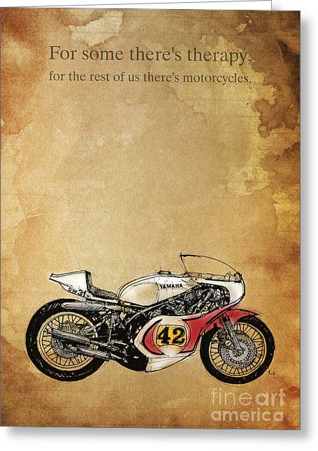 Yamaha Greeting Cards - Yamaha - For some theres therapy Greeting Card by Pablo Franchi