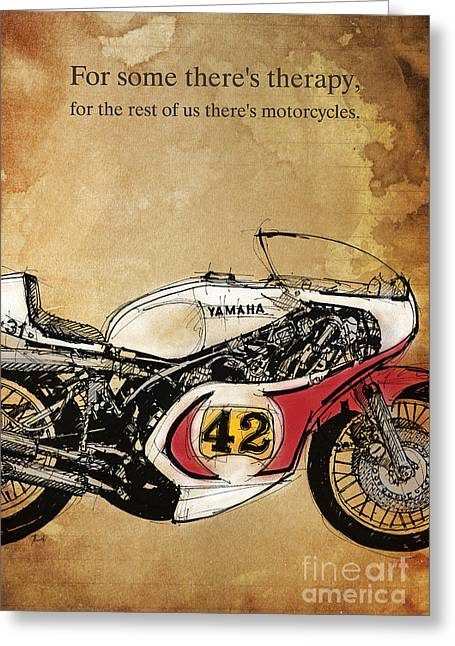 Handmade Drawings Greeting Cards - Yamaha 42 Quote Greeting Card by Pablo Franchi