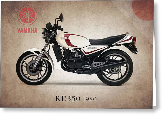 Yamaha Greeting Cards - Yamaha RD350 1980 Greeting Card by Mark Rogan