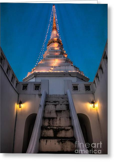 Bangkok Greeting Cards - Yan Nawa Temple Greeting Card by Adrian Evans