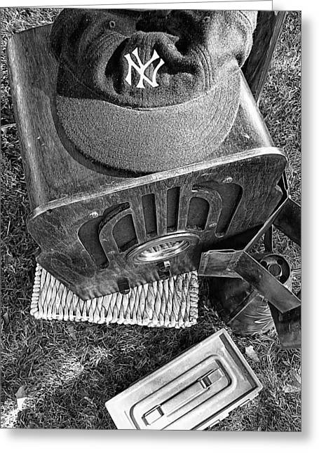 Bronx Bombers Greeting Cards - Yankee Cap Greeting Card by Ron Regalado