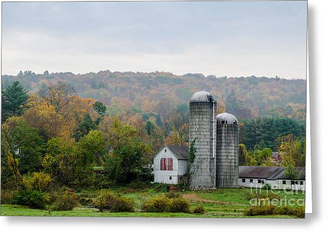 Pastureland Greeting Cards - Yankee Farmlands No 17 Greeting Card by JG Coleman