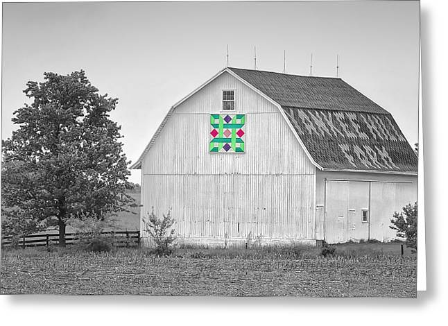 Patch Quilts Greeting Cards - Yankee Hill Farm Quilt Barn Greeting Card by Brian Mollenkopf