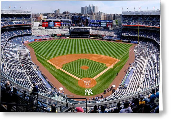 Recently Sold -  - Knicks Greeting Cards - Yankee Stadium 1 Greeting Card by Bob Stone