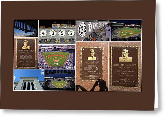 Yankee Stadium Bleachers Greeting Cards - Yankee Stadium Collage 2 Greeting Card by Allen Beatty