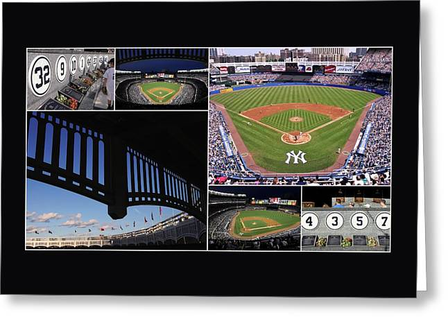 Old Pitcher Greeting Cards - Yankee Stadium Collage 3 Greeting Card by Allen Beatty