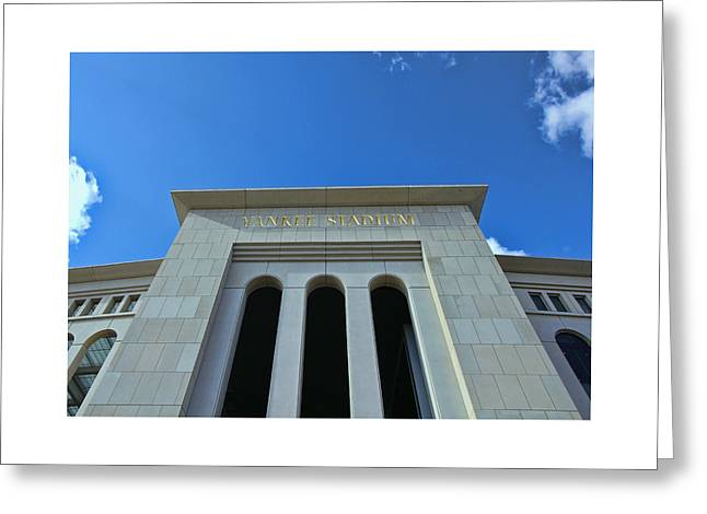 Yankee Stadium Bleachers Greeting Cards - Yankee Stadium Main Entrance Greeting Card by Allen Beatty