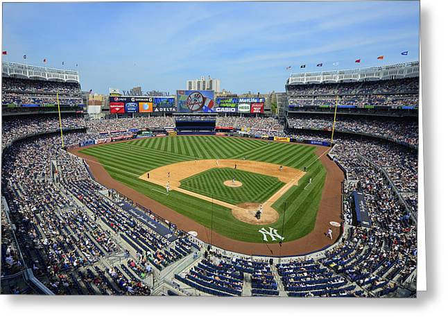 Mark Whitt Photography Greeting Cards - Yankee Stadium Greeting Card by Mark Whitt