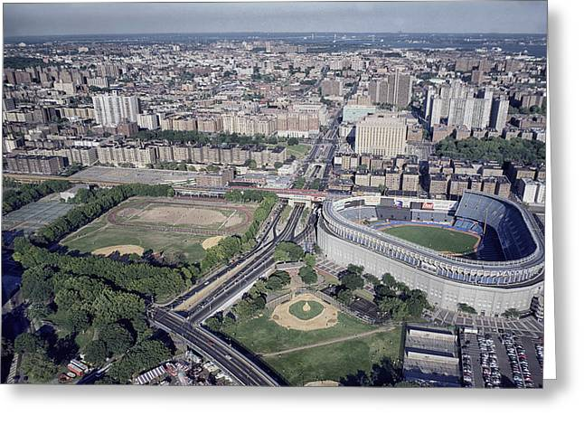 The Bronx Greeting Cards - Yankee Stadium Greeting Card by Mountain Dreams