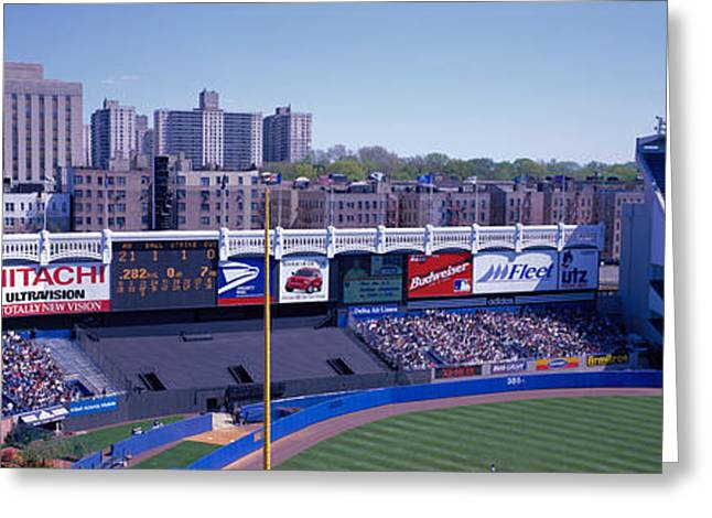 Yankee Stadium Bleachers Greeting Cards - Yankee Stadium Ny Usa Greeting Card by Panoramic Images