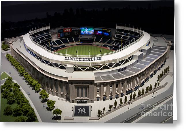 Models Greeting Cards - Yankee Stadium Replica Greeting Card by Amy Cicconi