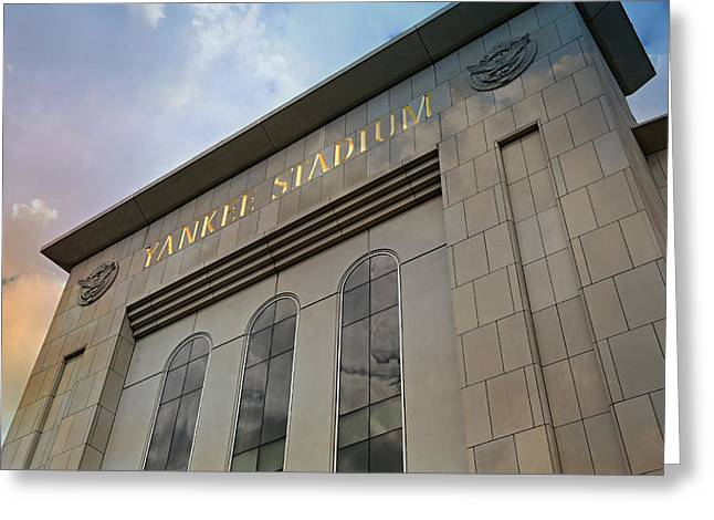 Baseball Stadiums Greeting Cards - Yankee Stadium Greeting Card by Stephen Stookey