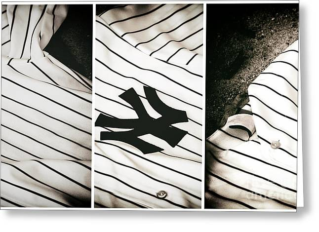 Bronx Bombers Greeting Cards - Yankees Panels Greeting Card by John Rizzuto