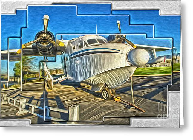 Yanks Air Museum Greeting Card by Gregory Dyer