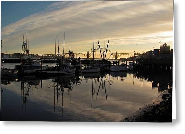 Yaquina Bay Bridge Greeting Cards - Yaquina Bay Bridge Greeting Card by JM Photography    Jim Mullholand