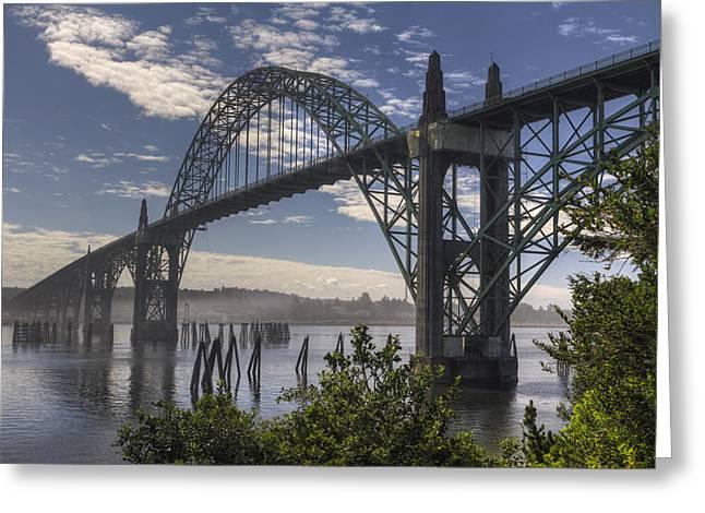 Yaquina Bay Bridge Greeting Cards - Yaquina Bay Bridge Greeting Card by Mark Kiver