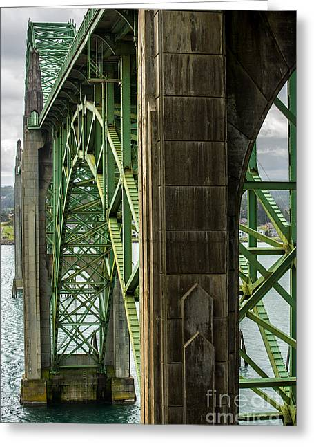 Yaquina Bay Bridge Greeting Cards - Yaquina Bay Bridge - Newport - Oregon Greeting Card by Gary Whitton