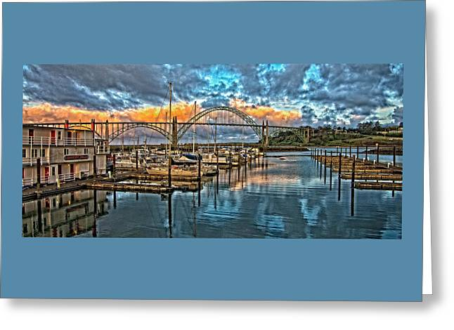 Oregon Coast Greeting Cards - Yaquina Bay Early Morning Greeting Card by Thom Zehrfeld